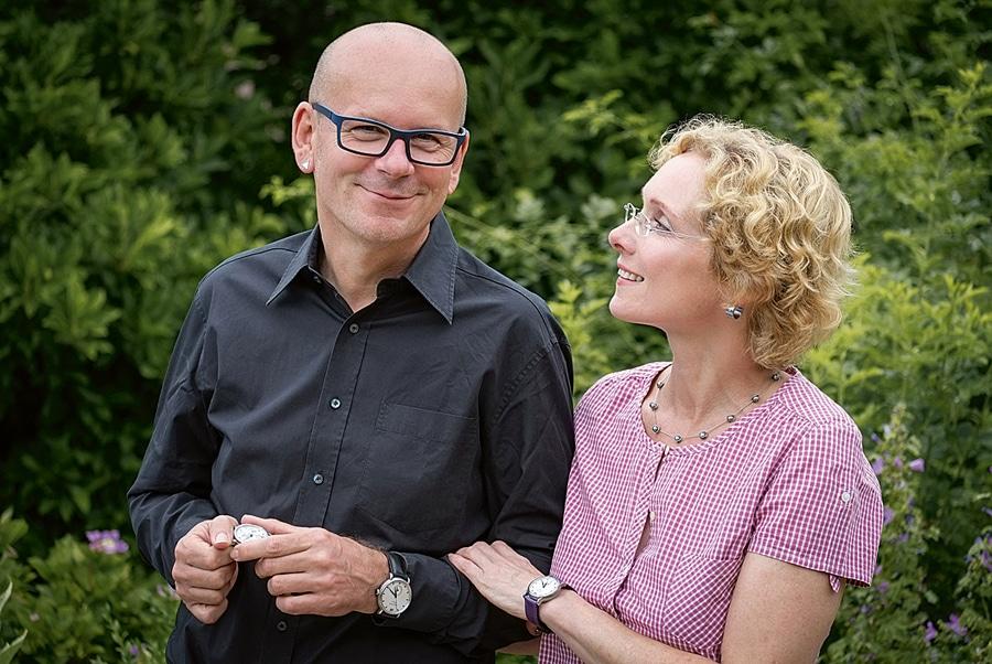 Uhrmacher Rainer Brand und seine Frau Petra Anja