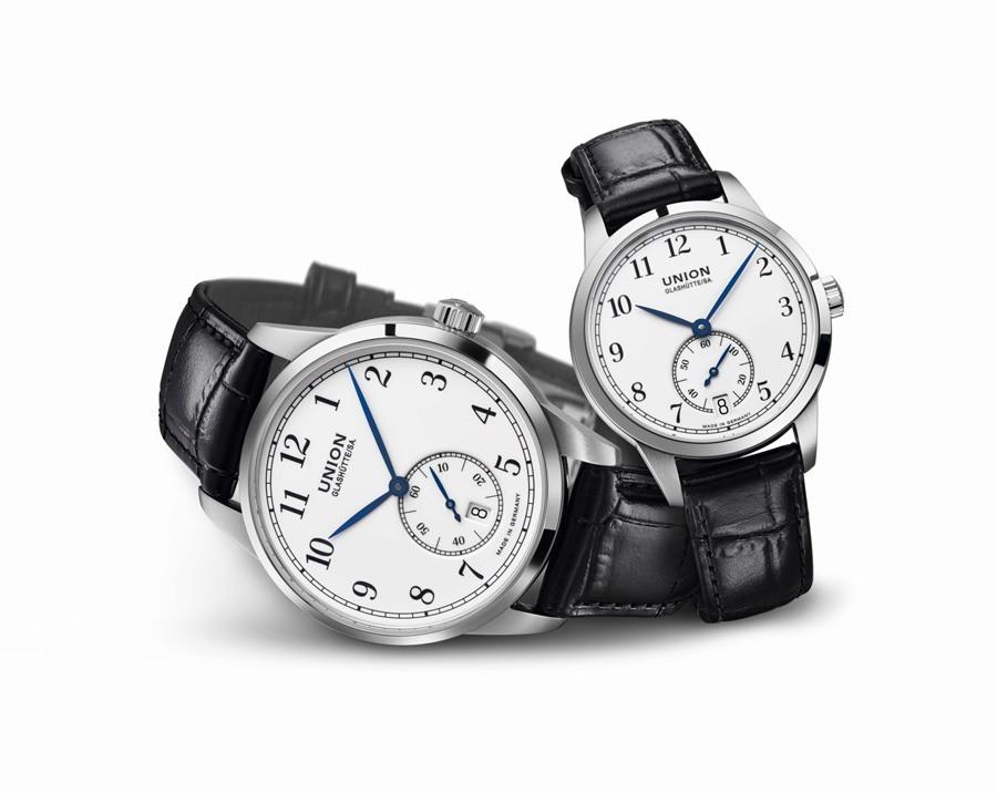 UnionGlashuette_1893 Kleine Sekunde_Uhrenpaar