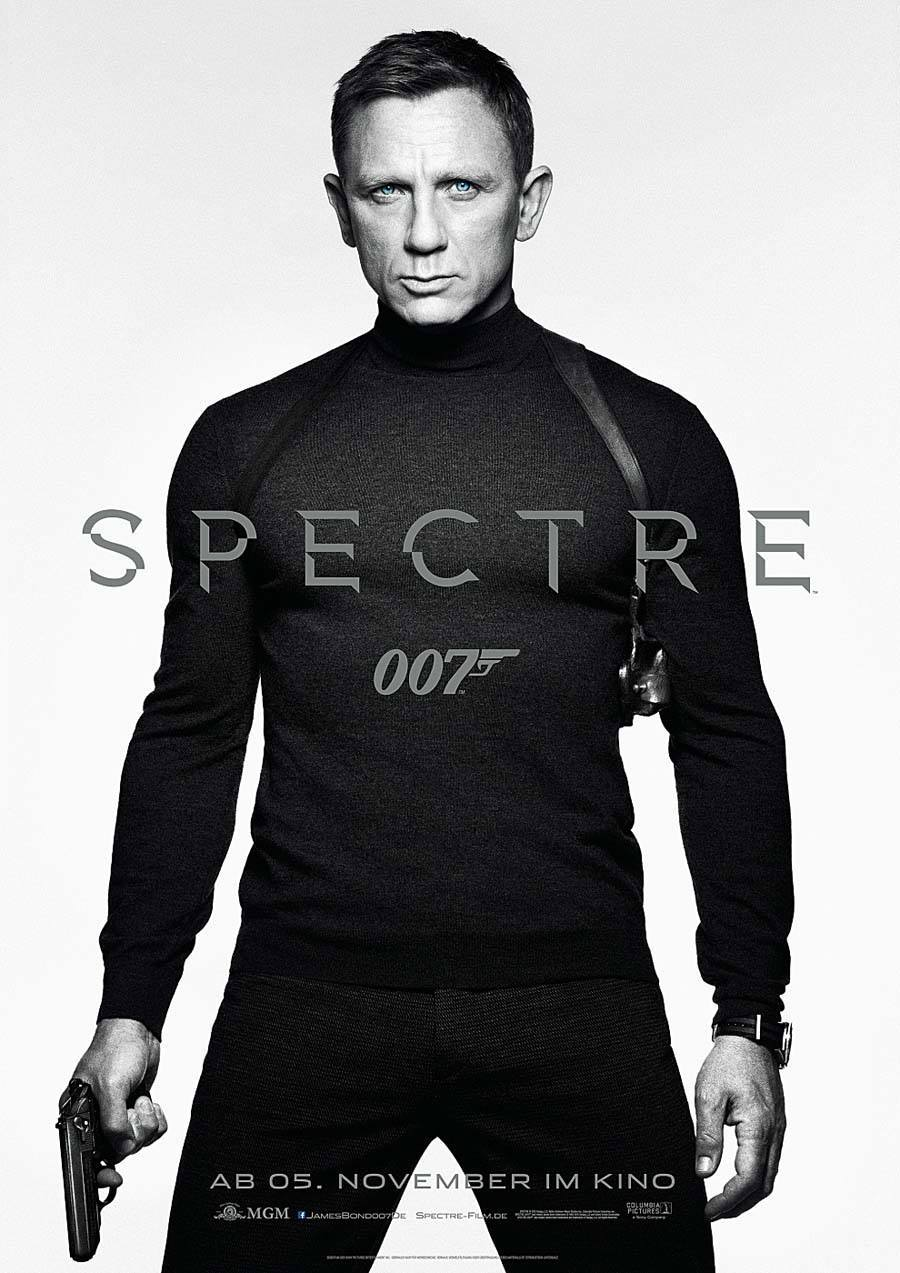 "Auftritt in ""James Bond 007 Spectre"": Daniel Craig mit Omega Seamaster 300 ""Spectre"" Limited Edition"