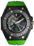 Linde Werdelin: Oktopus Double Date Carbon Green