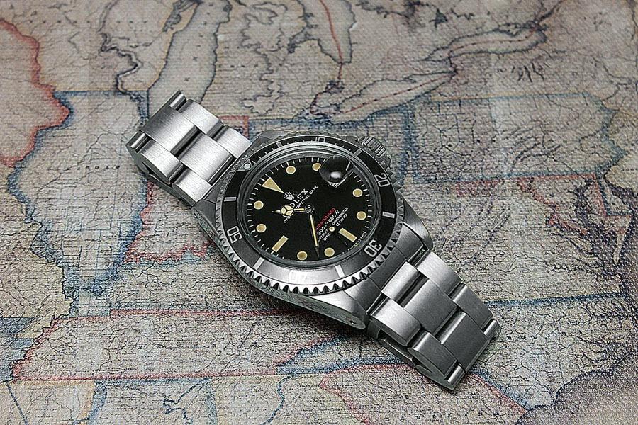 Rolex Red Submariner: Bei den Mark-I- bis Mark-III-Zifferblättern stand noch die Meterangabe an erster Stelle