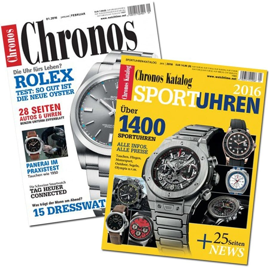 Zum 3. Advent: 10-mal Chronos + Sportuhren-Katalog gewinnen