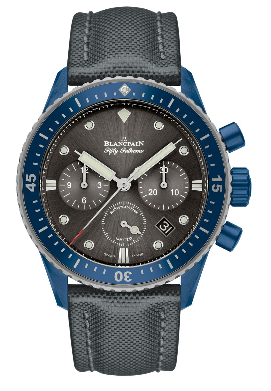 Blancpain: Fifty Fathoms Bathyscaphe Flyback Chronograph Blancpain Ocean Commitment II