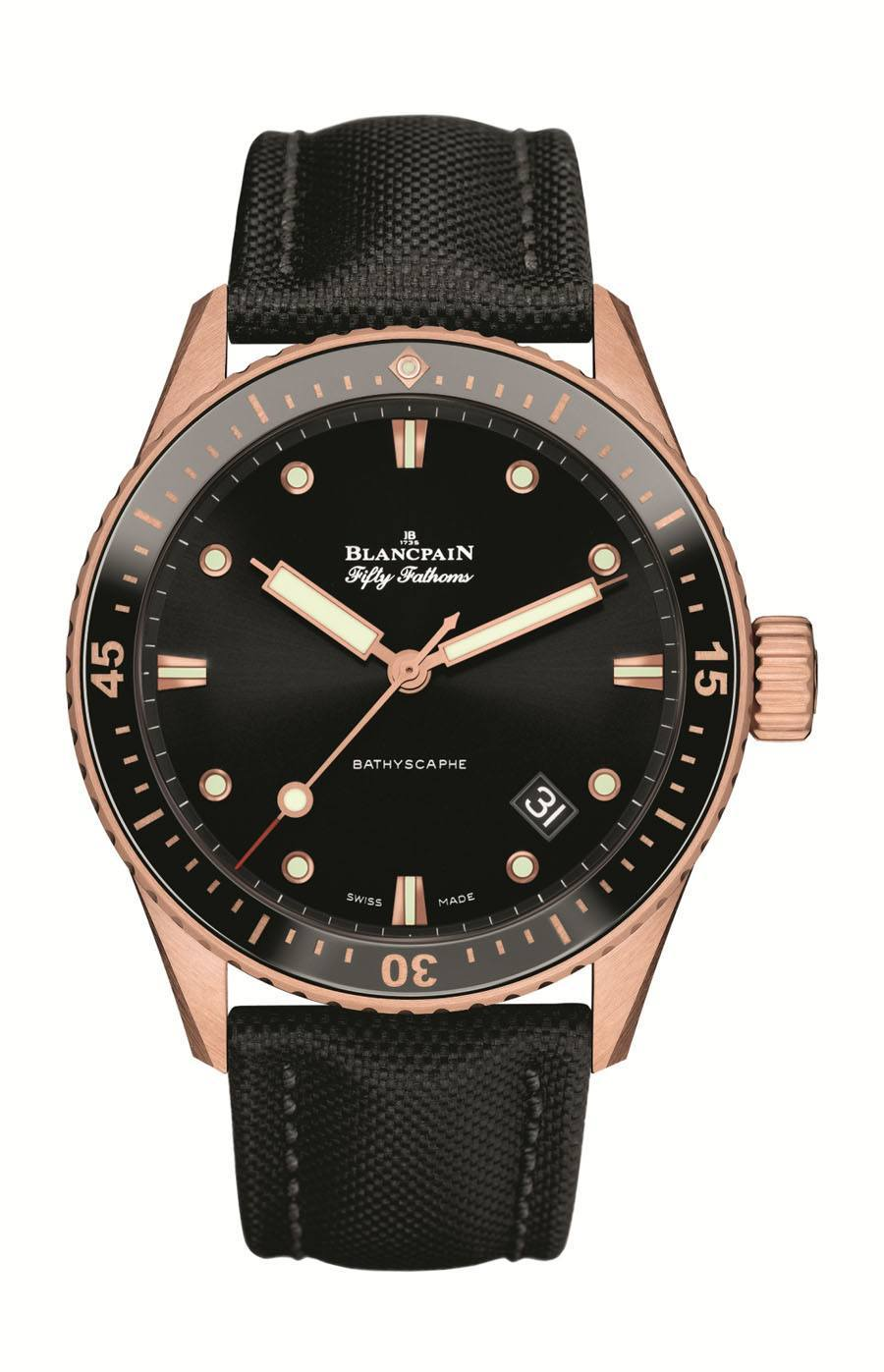 Blancpain: Fifty Fathoms Bathyscaphe in Sedna-Gold