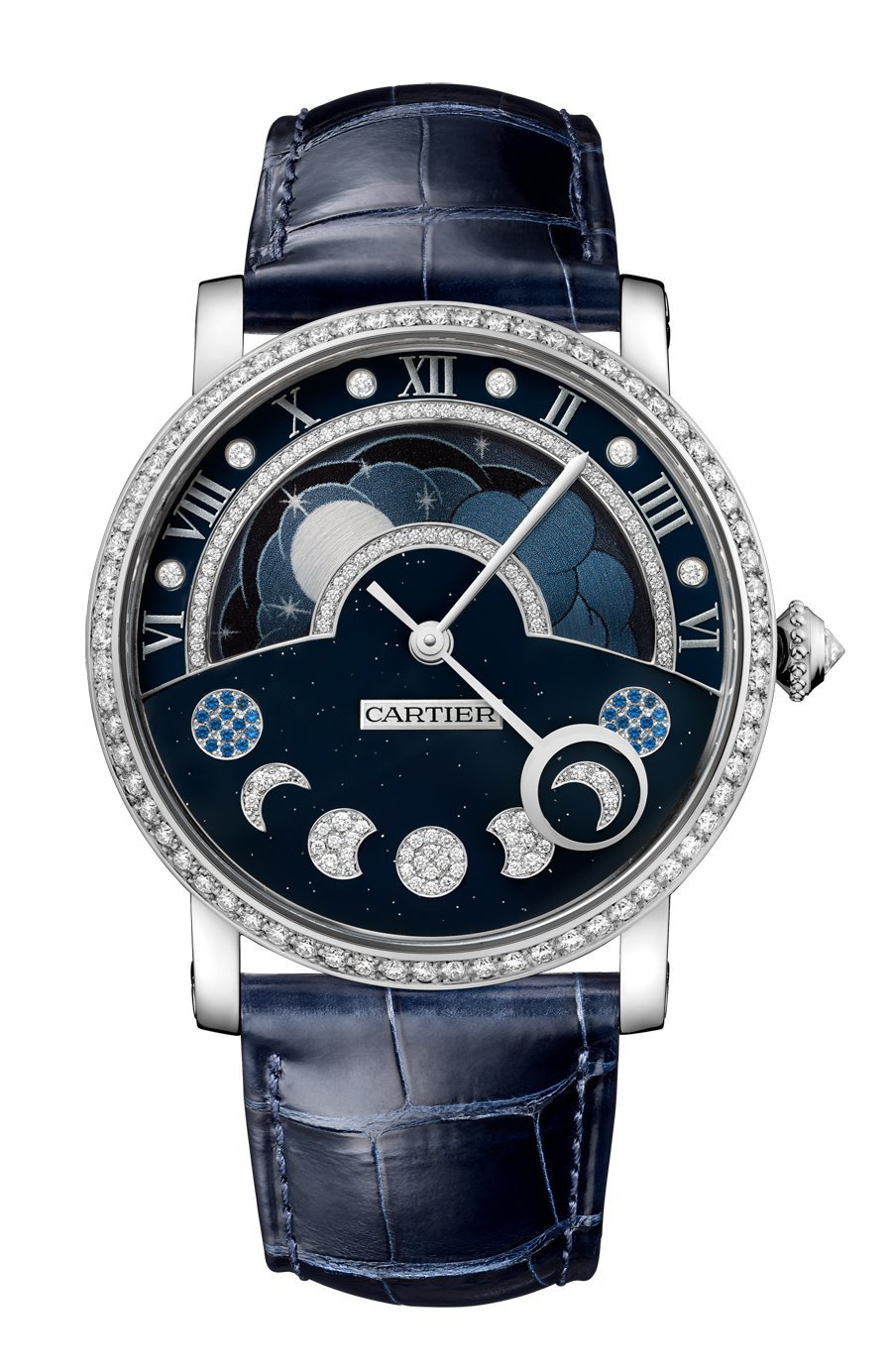 Cartier: Rotonde de Cartier Tag/Nacht retrograde Mondphase
