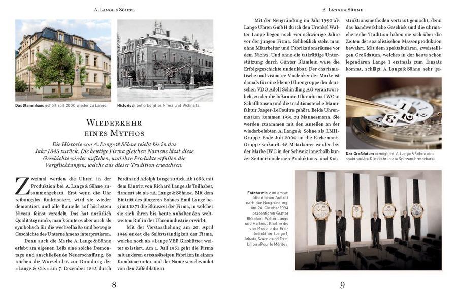 UHREN-MAGAZIN Spezial Deutsche Uhrenmarken – Das Kompendium 2016: A. Lange & Söhne