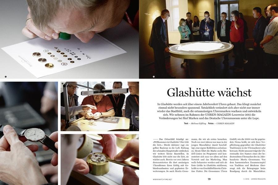 Die Manufakturen von A. Lange & Söhne, Moritz Grossmann, Nomos, Glashütte Original und die Wempe Chronometerwerke öffnen bei der Leserreise des UHREN-MAGAZINS ihre Türen.