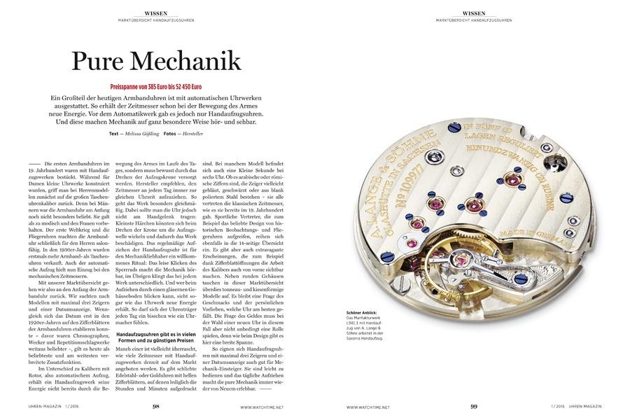 In Kombination mit einem schlichten Zifferblatt bieten Handaufzuguhren Uhrenlliebhabern alles, was sie brauchen. Die Marktübersicht zeigt zahlreiche aktuelle Modelle.