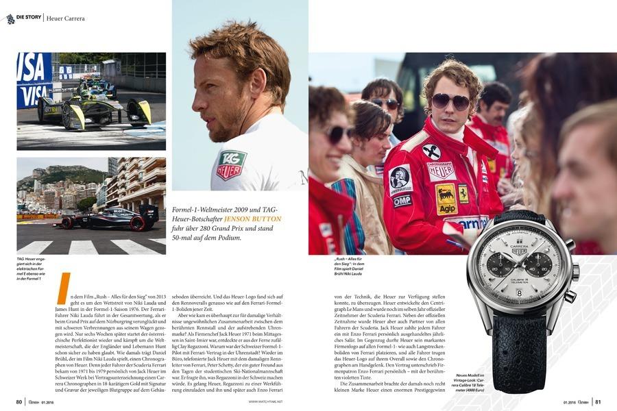 """Chronos-Ausgabe 01.2016 mit Special """"Autos und Uhren"""""""