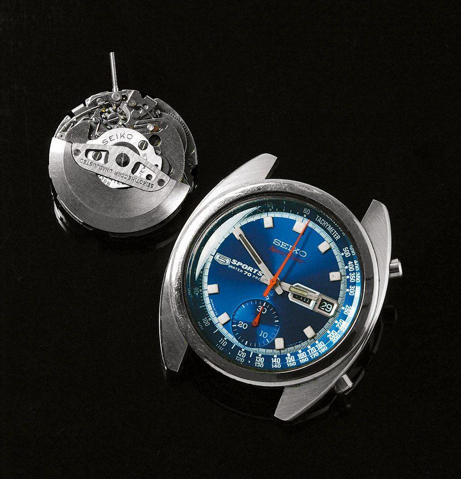 Wurde im Juni 1969 als Erster verkauft: Der Seiko 5 Speed-Timer mit dem Kaliber 6139 war der erste Automatik-Chronograph im Handel