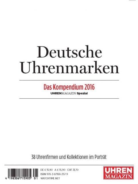 UHREN-MAGAZIN Spezial Deutsche Uhrenmarken – Das Kompendium 2016