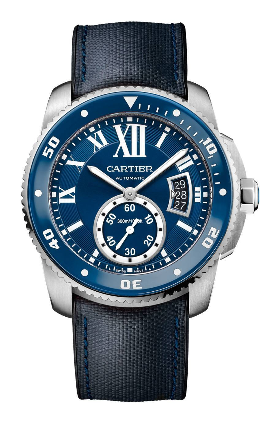 Cartier: Calibre de Cartier Diver Blue in Edelstahl