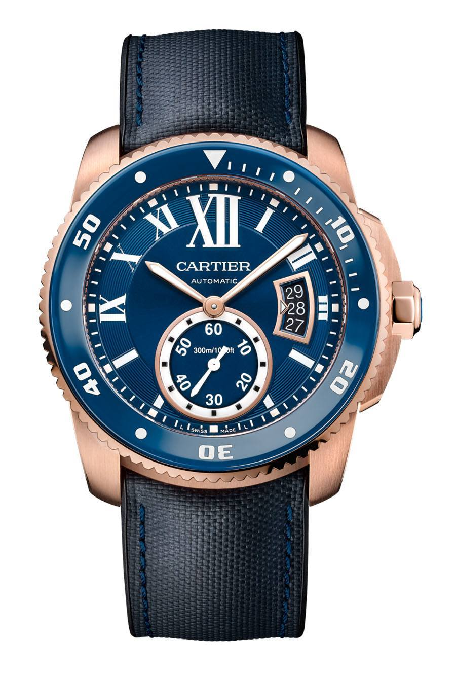 Cartier: Calibre de Cartier Diver Blue in Rotgold