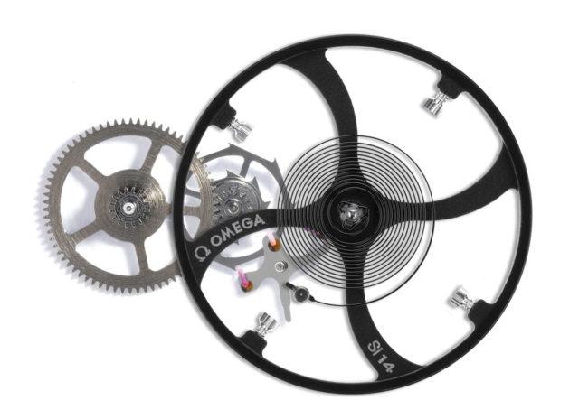 Omega-Co-Axial-Hemmung: Der Nivagauss-Anker besitzt drei anstatt zwei Rubinpaletten