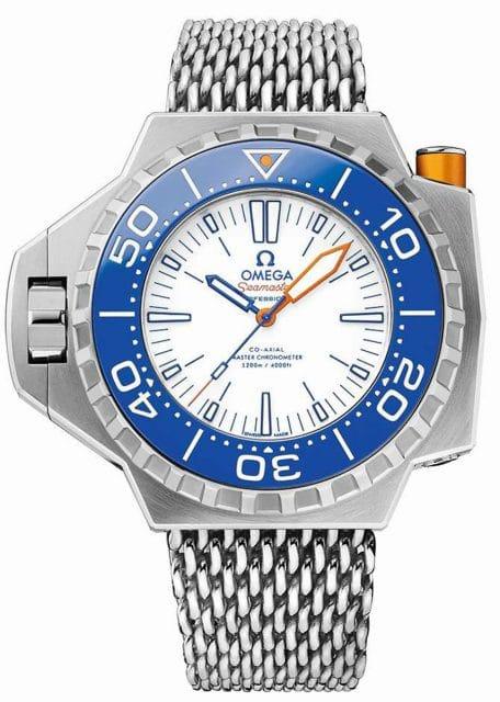 Omega Ploprof 1200M: Dank Titangehäuse und -band ist die neue Uhr trotz ihrer Größe besonders leicht
