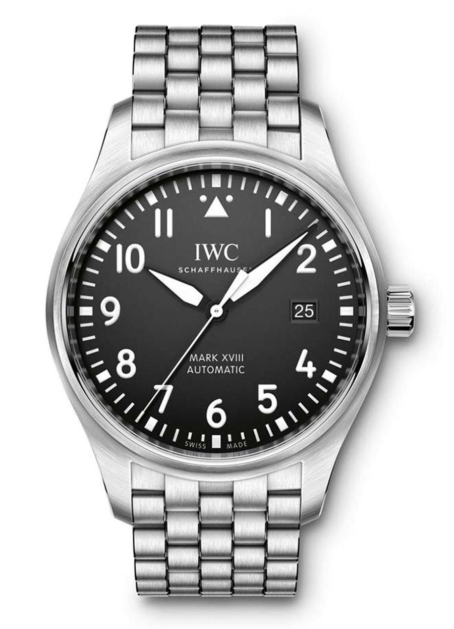 IWC: Fliegeruhr Mark XVIII mit Edelstahlband
