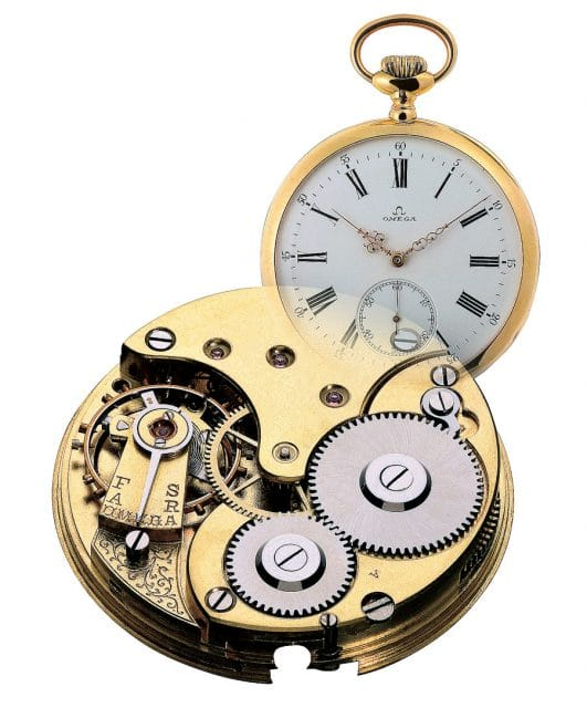 Omega-Namensgeber: Das Taschenuhrkaliber Omega wurde 1894 erstmals eingeführt