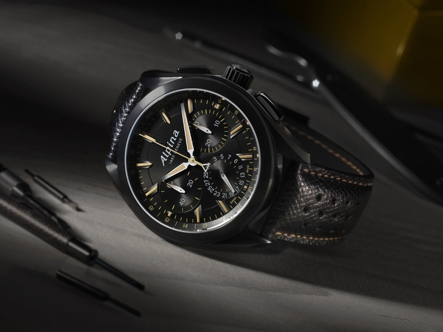"Alpina: Apliner 4 Manufacture Flyback Chronograph ""Full Black"""