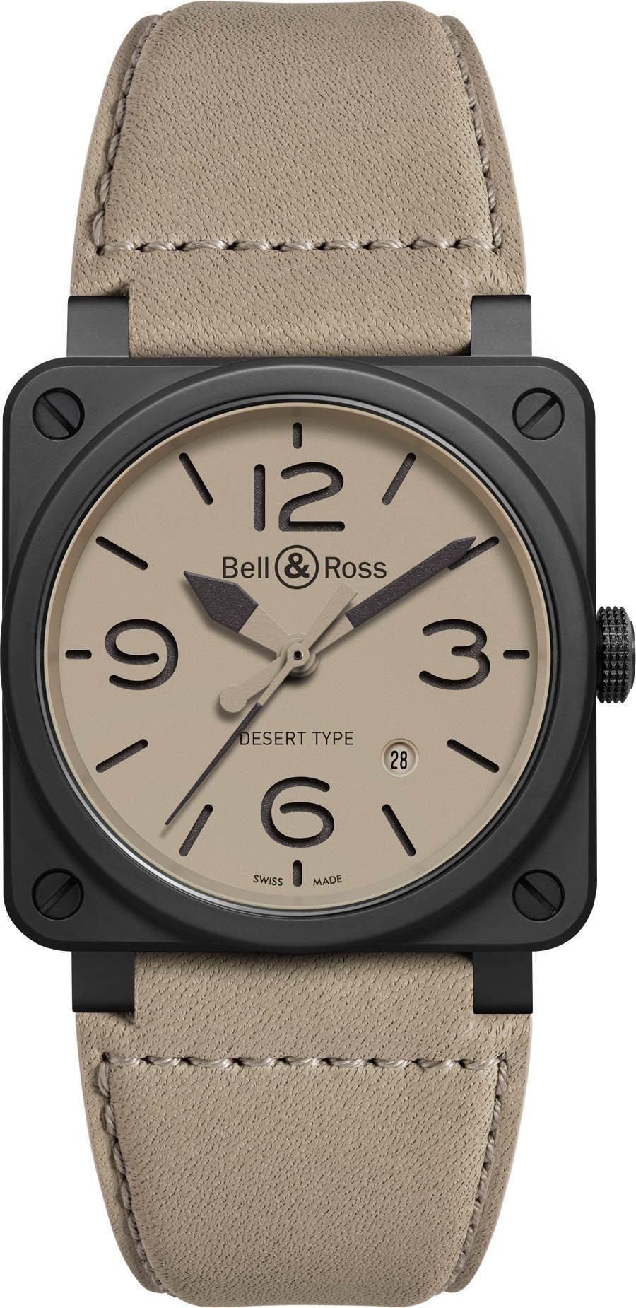 Bell & Ross: Dreizeigeruhr BR03-92 Desert Type mit Datum