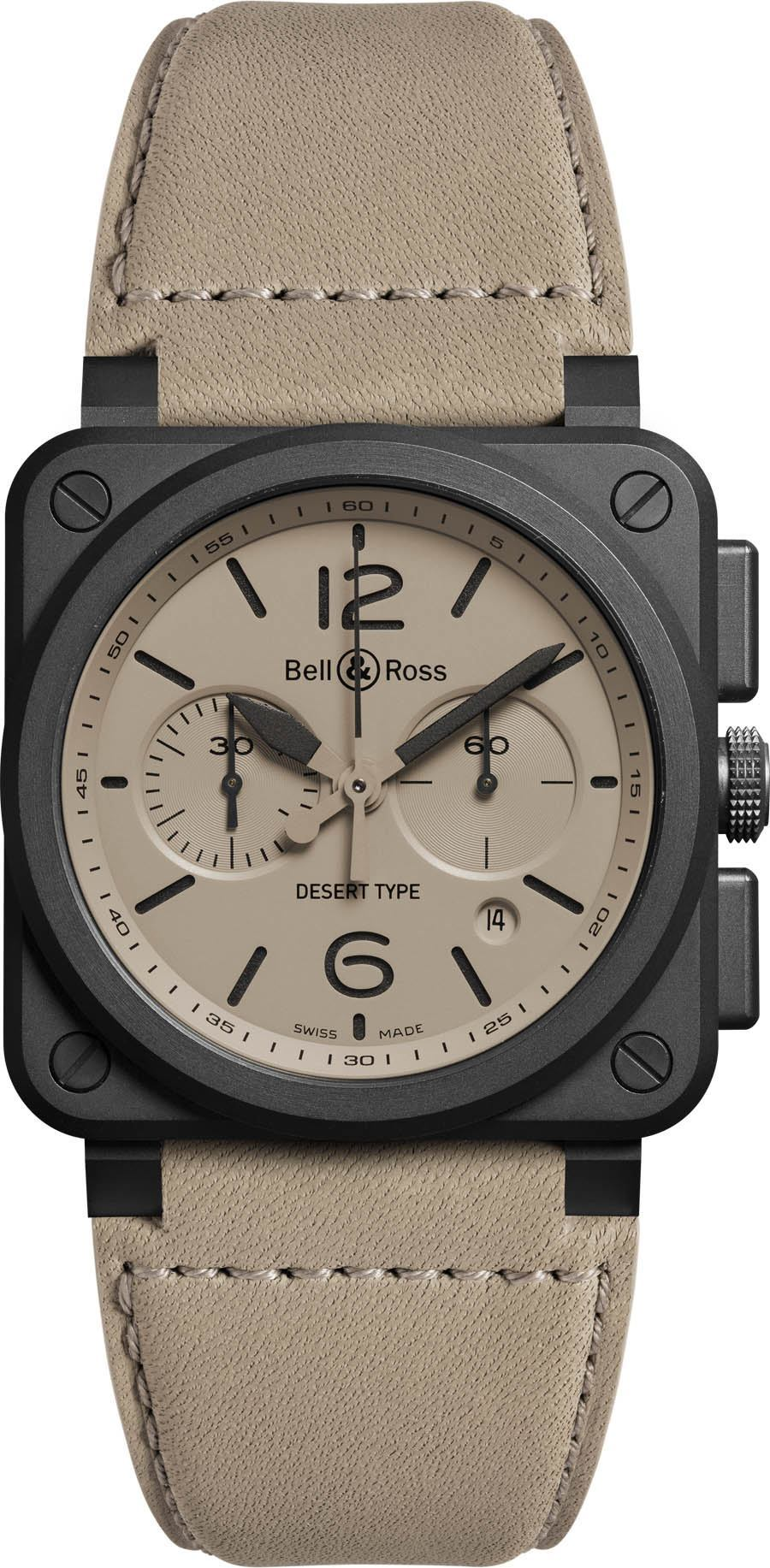 Bell & Ross: Bicompax-Chronograph BR03-94 Desert Type