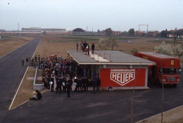 Heuer macht die Zeitmessung an der 1972 eröffneten Ferrari-Strecke in Fiorano