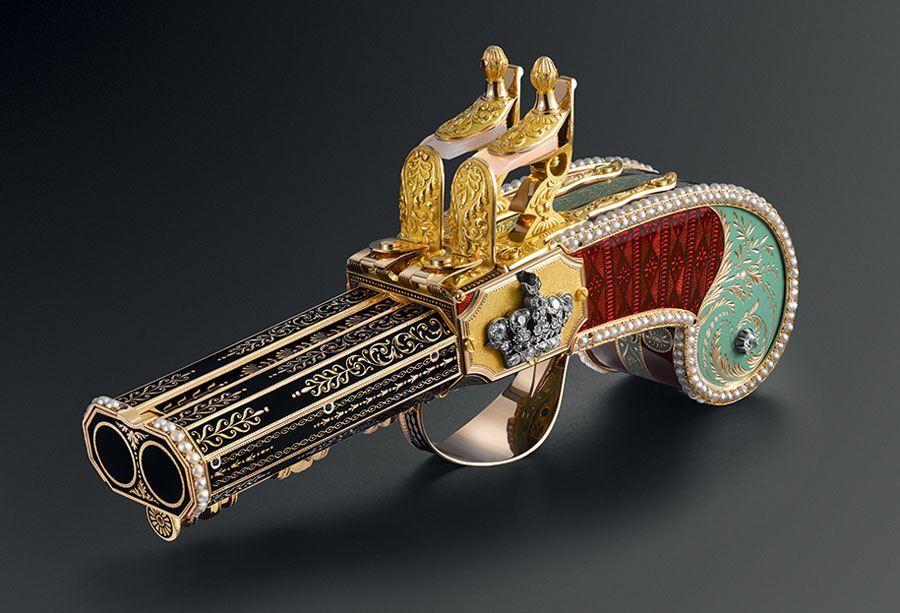 Parmigiani Fleurier: Historische Pistole mit Singvogel