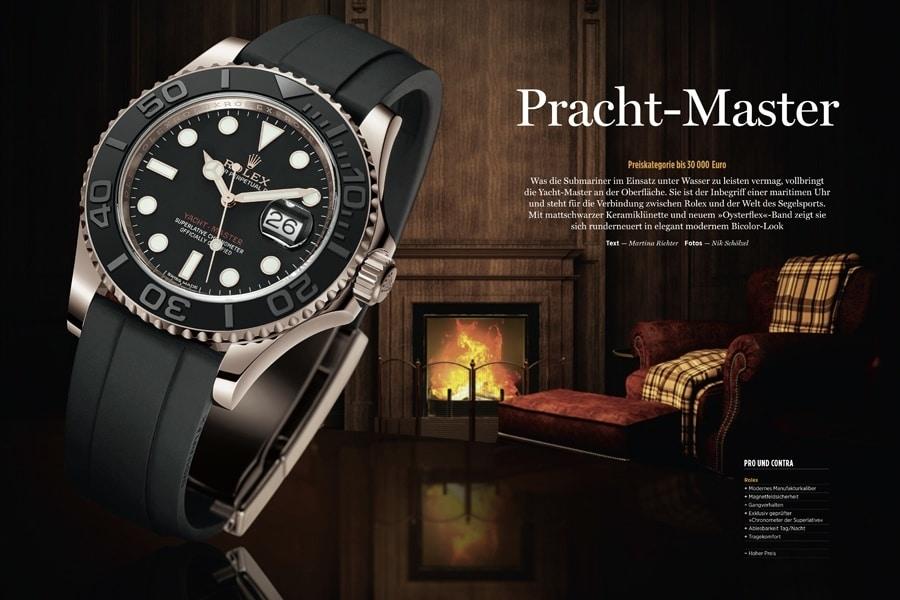 Das UHREN-MAGAZIN testet die Yacht-Master von Rolex exklusiv in seiner März/April-Ausgabe 2016.