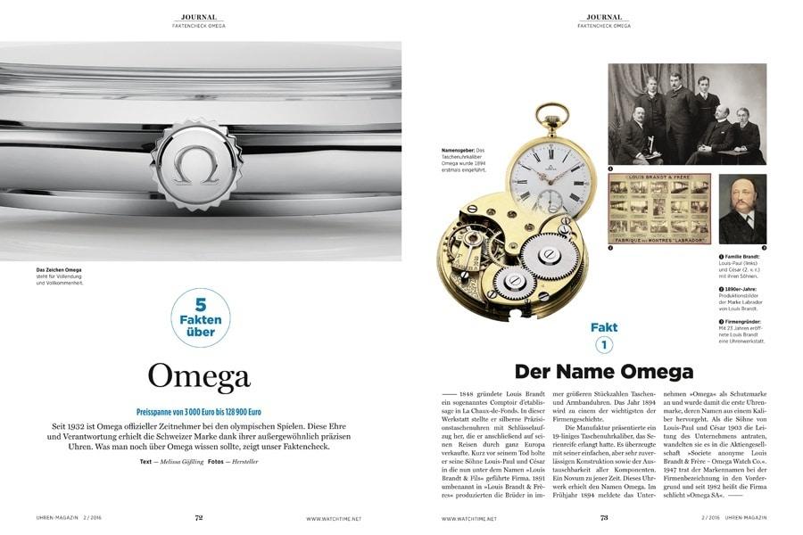 Wer diese 5 Fakten über Omega kennt, darf sich zu recht als Fachmann bezeichnen.