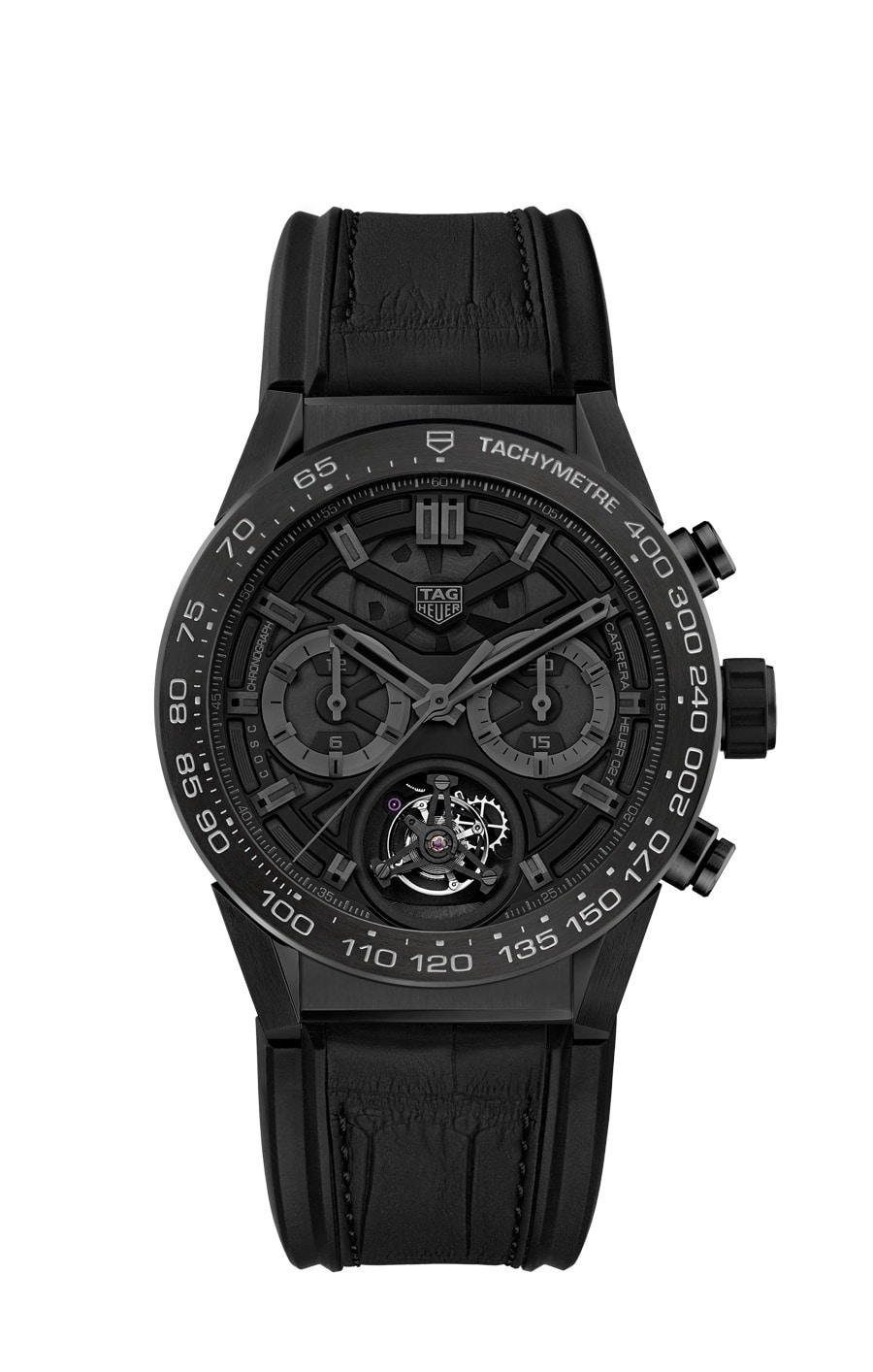 TAG Heuer: Carrera Calibre Heuer 2 Tourbillon COSC Black Phantom