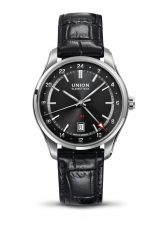 Union Glashütte: Belisar GMT in Schwarz