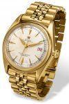 Erste Uhr mit Fensterdatum: Rolex Oyster Perpetual Datejust von 1945. Der Namenszusatz fehlt auf dem Zifferblatt.