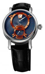 Chronoswiss: Flying Regulator Jumping Hour in Stahl mit blauem Zifferblatt