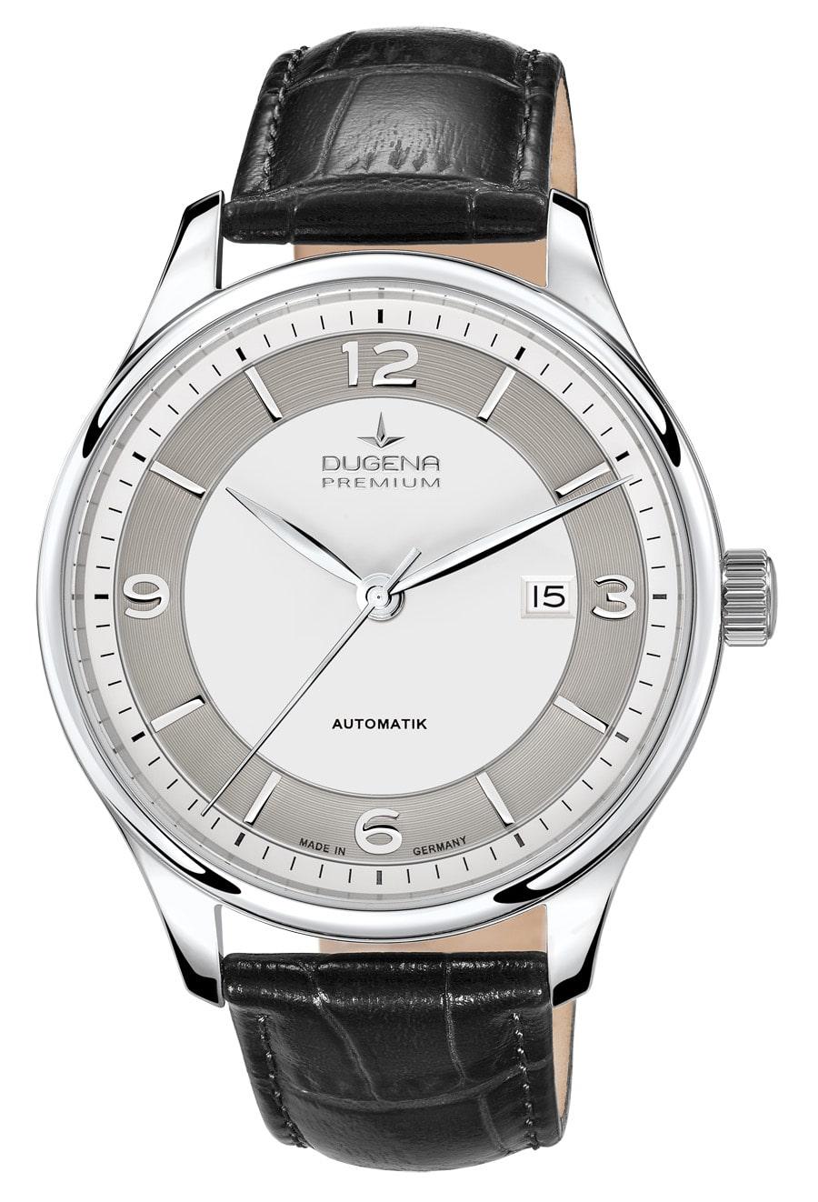 Dugena Premium: Epsilon Automatik mit schwarzem Lederband