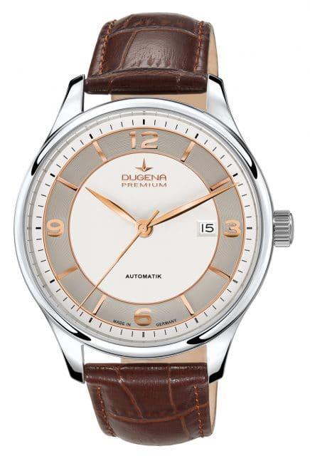 Dugena Premium: Epsilon Automatik in Bicolor mit Lederband