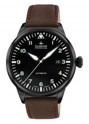Dugena Premium: Kappa Airtrip schwarz beschichtet mit braunem Lederband