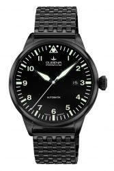Dugena Premium: Kappa Airtrip schwarz beschichtet mit schwarz beschichtetem Metallband