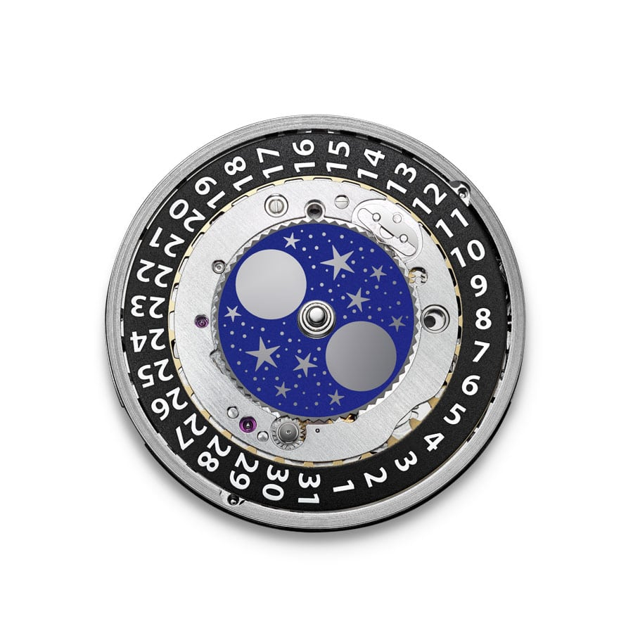 Neues Eterna Movement Kaliber 3949A mit Mondphasenanzeige