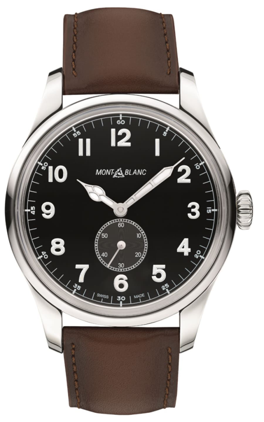 Montblanc: 1858 Automatic Small Second mit Lederband