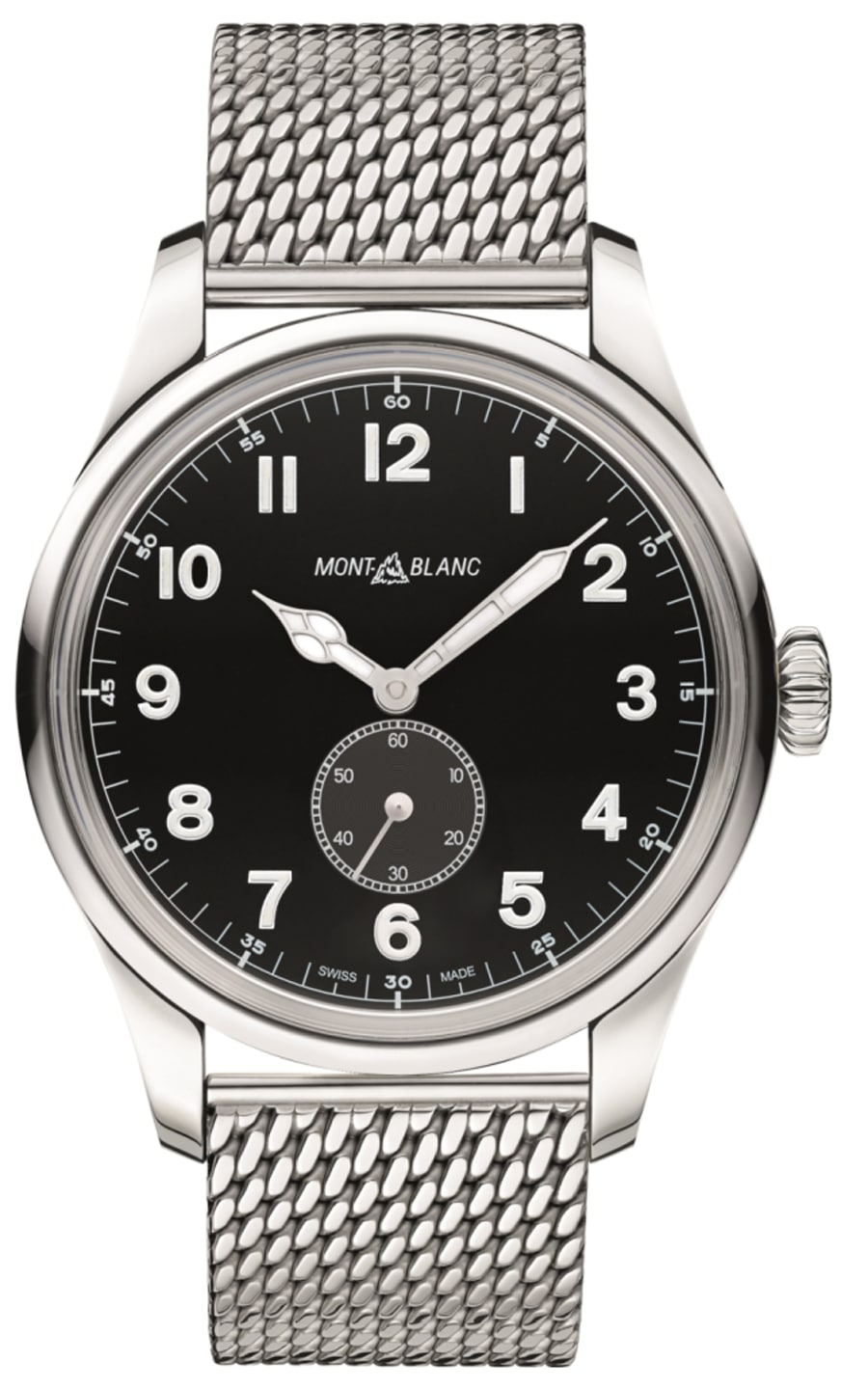 Montblanc: 1858 Automatic Small Second mit Milanaiseband