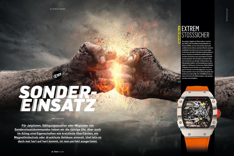 Extreme Uhren in der neuen Chronos