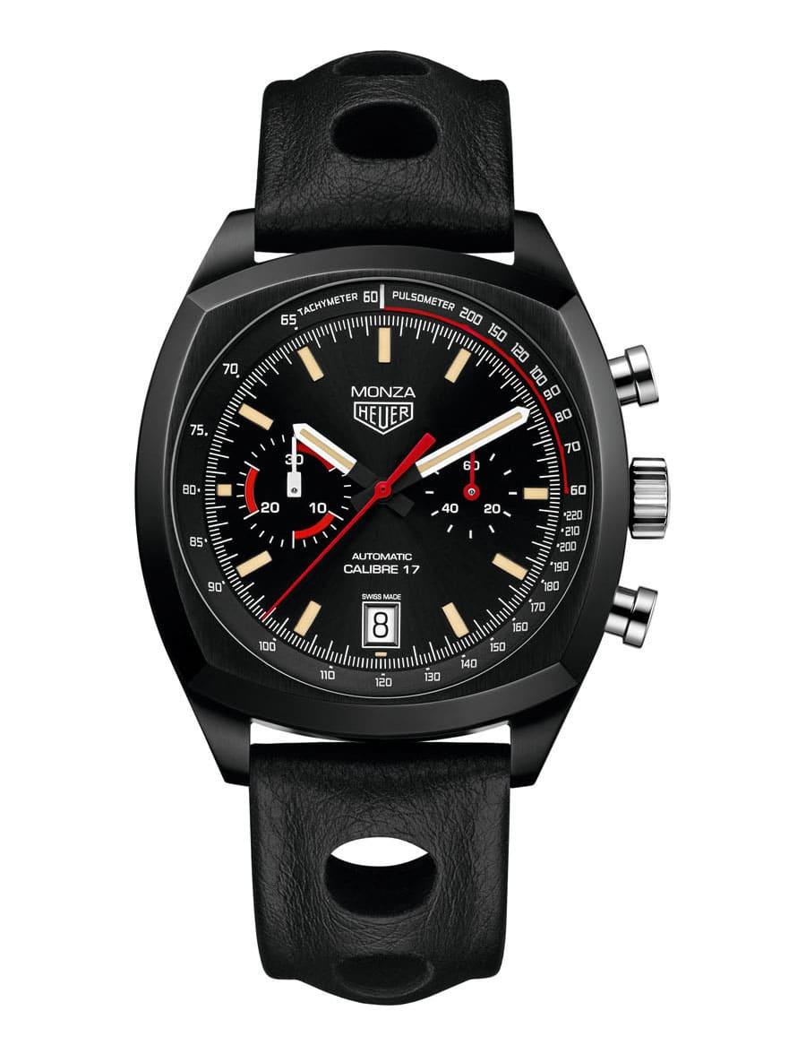 Ganz in Schwarz: der TAG Heuer Monza Chronograph Calibre 17