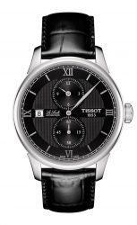Tissot: Le Locle Regulateur mit schwarzem Lederband