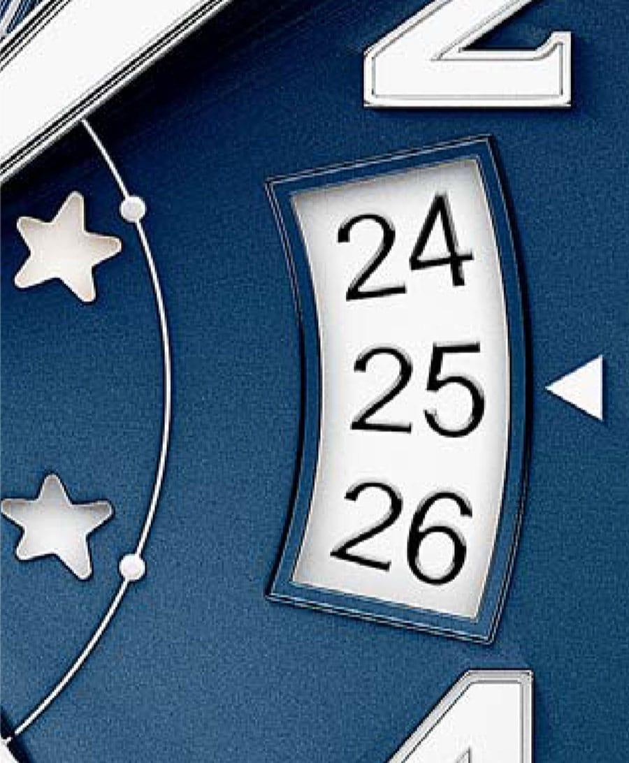 Ein langes Datumsfenster kann die Lesbarkeit des Datums erschweren.
