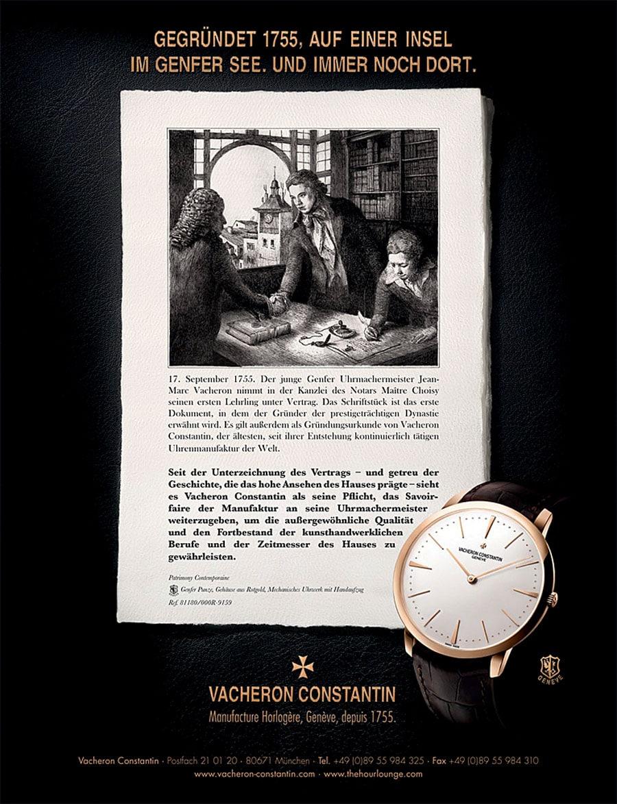 Werbung von Vacheron Constantin