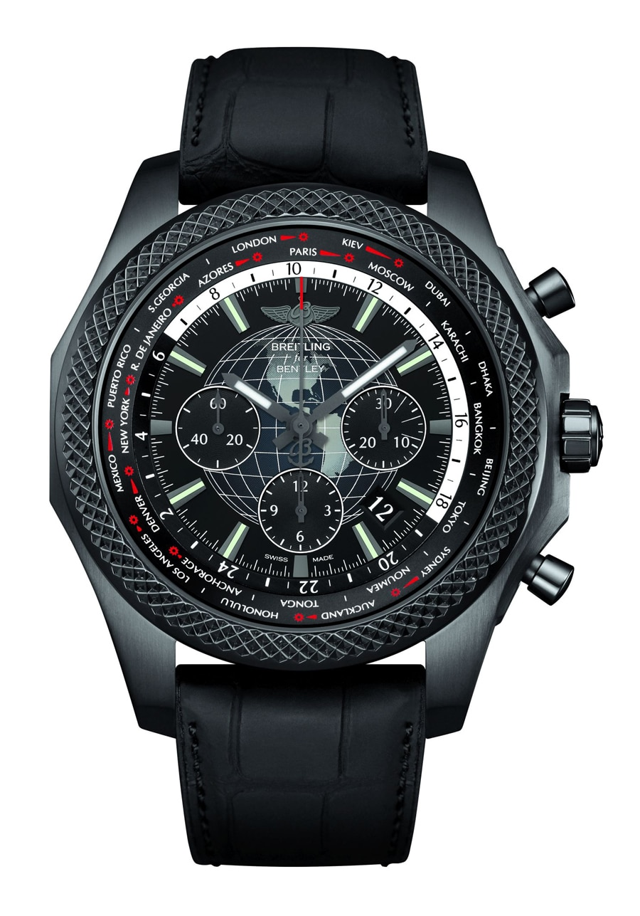 Breitling for Bentley: B05 Unitime Midnight Carbon (Front)