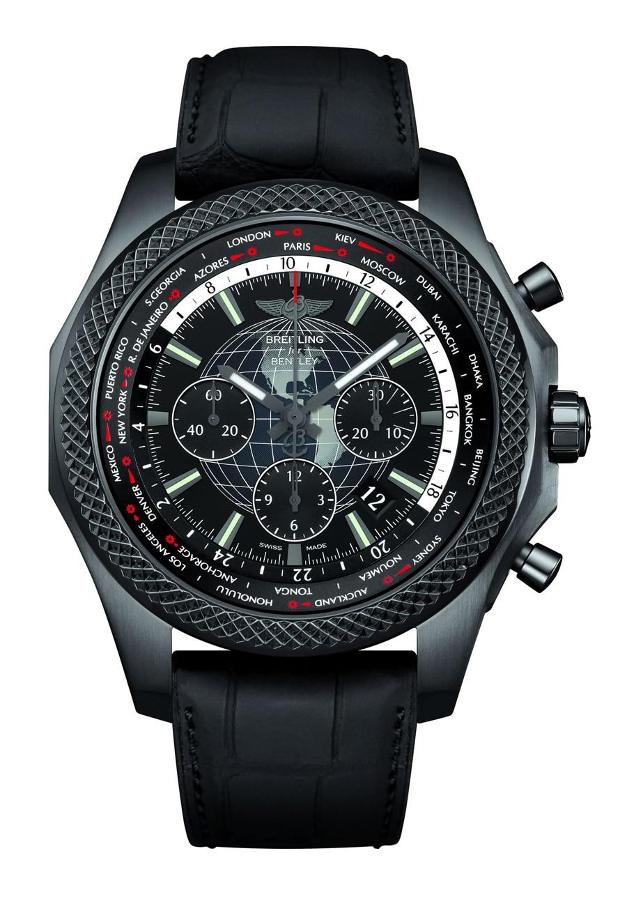 Weltenbummler: Die neue Bentley B05 Unitime Midnight Carbon mit Weltzeit-Indikation kostet 13.830 Euro.