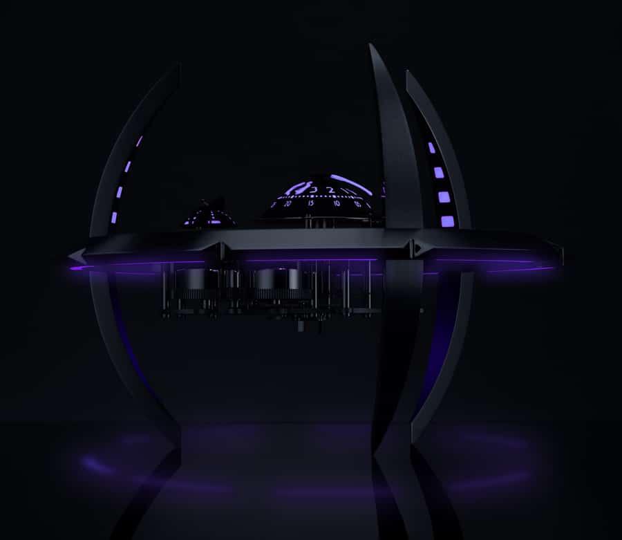 MB&F: Starfleet Machine Black Badger in Violett
