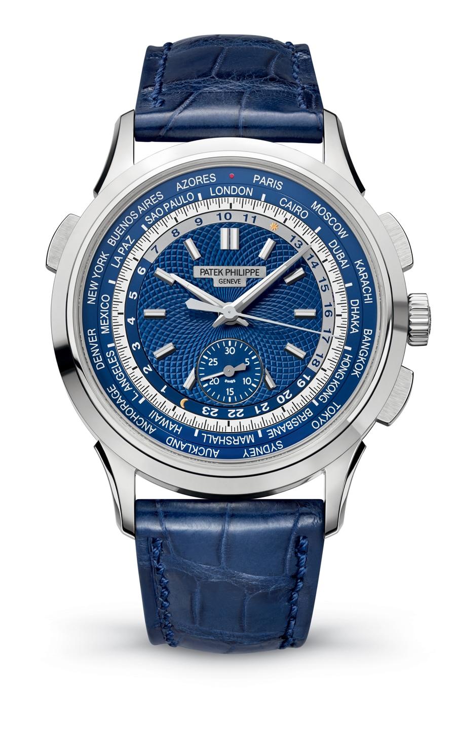 Trägt das Patek-Philippe-Siegel: Weltzeit-Chronograph, Referenz 5930G, vorgestellt auf der Baselworld 2016