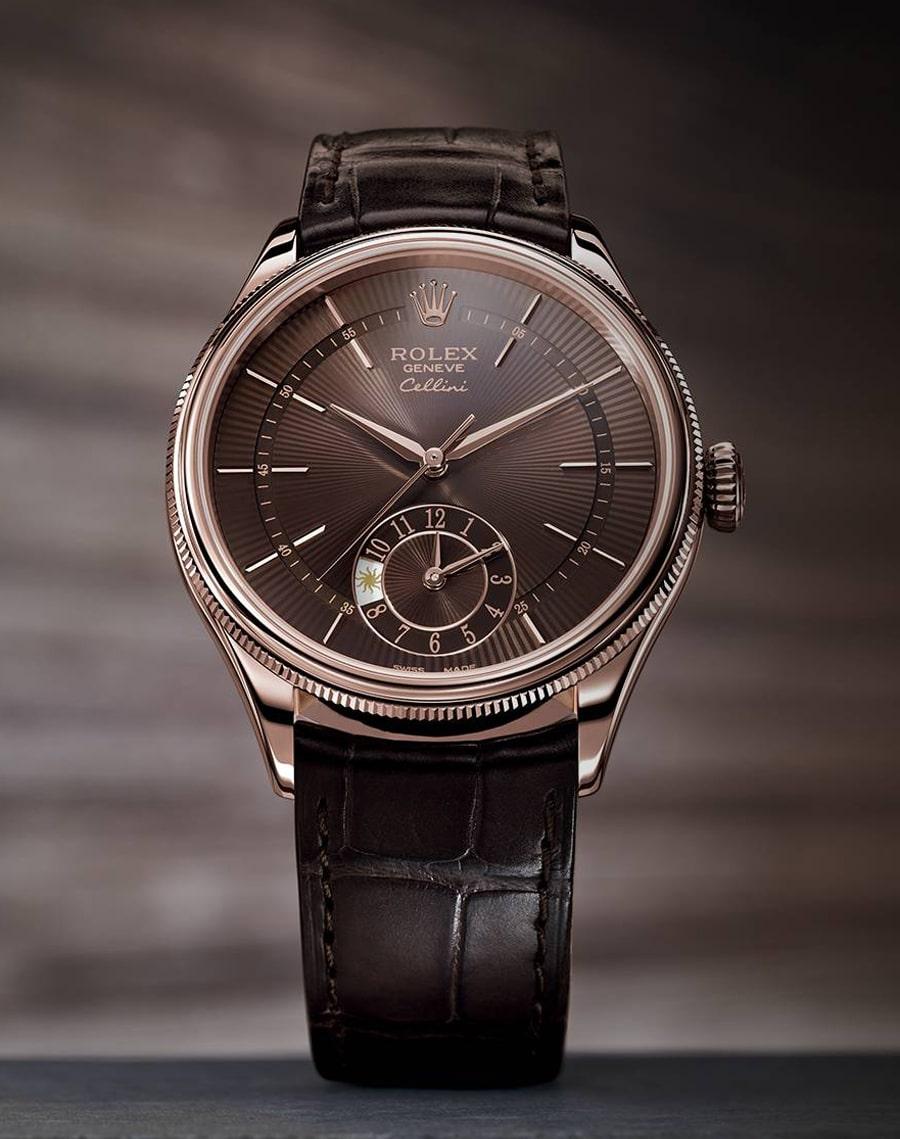 Rolex: Cellini Dual Time in Braun