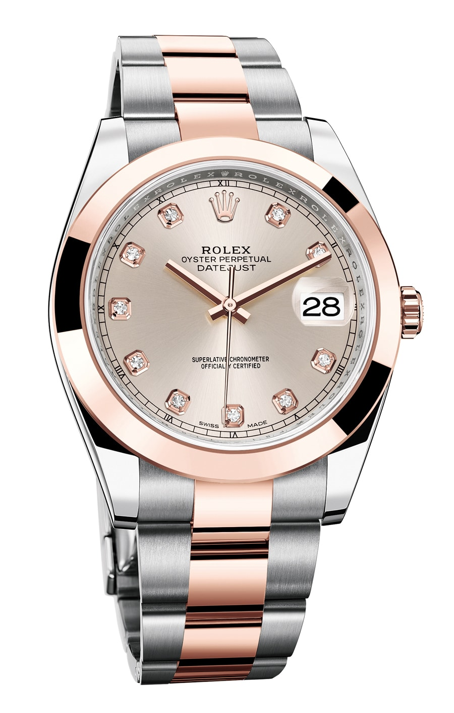 Rolex: Oyster Perpetual Datejust 41 in der Rosé-Diamant-Version